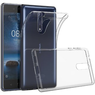 Nokia 8 Soft Silicon Cases D  Y - Transparent