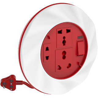 Goldmedal Twister 16A 3 Pin Extension Cord (With 6A 16A International Sockets 2 Pin Socket Indicator and 3.5m Power Cord)