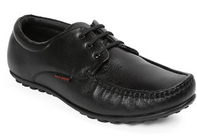 Red Chief Black Formal All Season Shoes (RC3416 001)