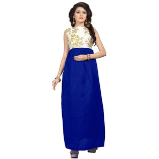 Florence womans Blue Embroidered Gown