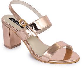 Funku Fashion Peach Block Heels