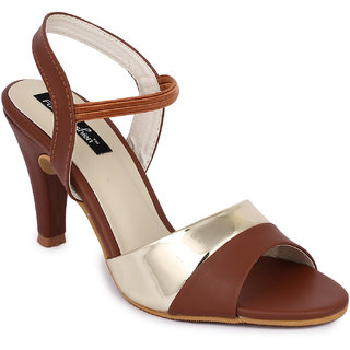 Funku Fashion Brown Kitten Heels
