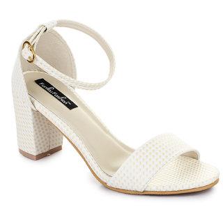 Funku Fashion Silver Block Heels