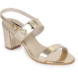 Funku Fashion Golden Block Heels