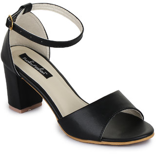 Funku Fashion Black Block Heels