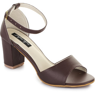 Funku Fashion Brown Block Heels