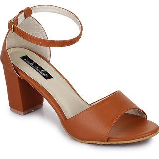 Funku Fashion Tan Block Heels