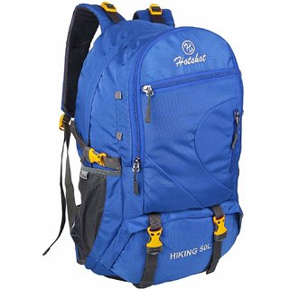 Hotshot Lightweight Travel Hiking Rucksack Bag Blue - 50 L