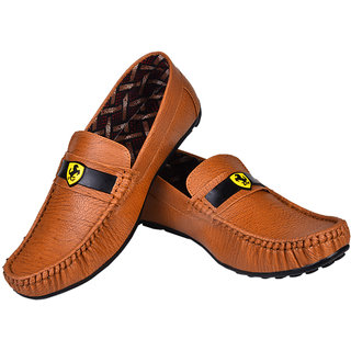 46ca55fc5fc2cd Buy Messi Men s Casual Brown Leather Shoes Online - Get 55% Off