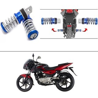 buy autostark spring coil style bike foot pegs foot rest ped set of