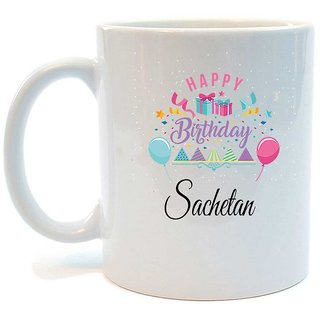 Happy Birthday Sachetan Printed Coffee Mug by Juvixbuy