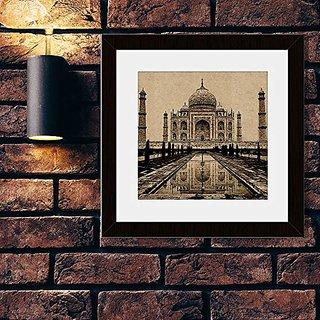 Incredible Gifts Engraved Taj photo on Wood - The Taj(9x9)