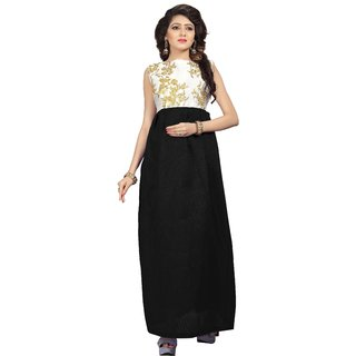 Florence womans Black Silk Embroidered Gown (GC015)
