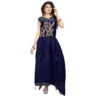 Florence Womens Grey Bangalore Silk Anarkali Gown (GC019)
