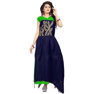 Florence womans Green Bangalore Silk Anarkali Gown(GC020)