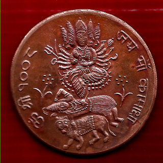 SHREE JAI MAA KAMAKHYA DEVI 1818 TEMPLE TOKEN BIG SIZE WEIGHT 45 GM. SIZE 50 MM