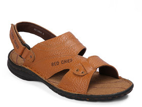 Red Chief Tan Casual Slip On Sandal (RC3560 107)