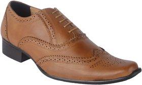 Austrich Mens Tan Brogue Shoes