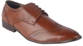 Austrich Mens Brown Brogue Shoes