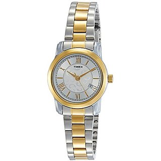 Timex Analog Silver Dial Womens Watch-TWEL11508