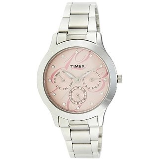 Timex E-Class Analog Pink Dial Womens Watch - TI000Q80100