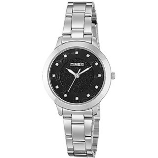 Timex Analog Black Dial Womens Watch-TW000T612