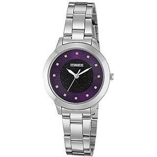 Timex Analog Purple Dial Womens Watch-TW000T614
