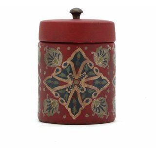 THE HOME PAINTED CANISTER 141499 RED SAND 18.5X13X13 CM