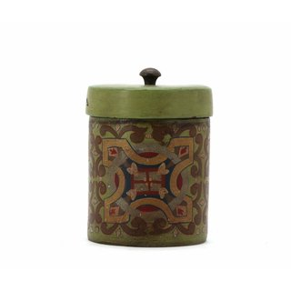 THE HOME PAINTED CANISTER 141499 GREEN SAND 18.5X13X13 CM