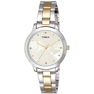 Timex Fashion Analog Gold Dial Womens Watch-TW000T608