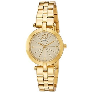 Timex Analog Gold Dial Womens Watch-TW000Z200