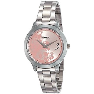 Timex Fashion E Class Analog Pink Dial Womens Watch - TI000T60100