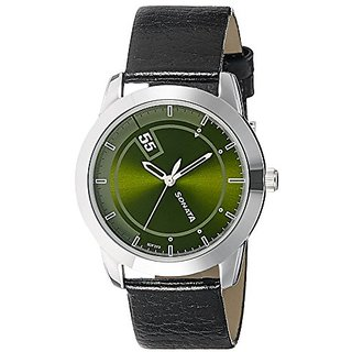 Sonata Analog Green Dial Mens Watch (7924SL09)