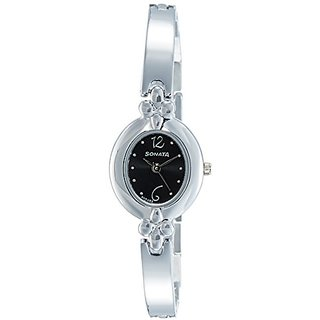 Sonata Analog Black Dial Womens Watch-8093SM01