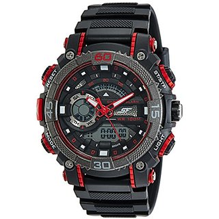 Sonata Digital Black Dial Mens Watch-77070PP01