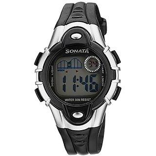 Sonata Super Fibre Digital Grey Dial Unisex Watch - 87012PP04