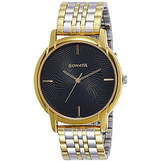 Sonata Analog Black Dial Mens Watch-sonata-77031bm01