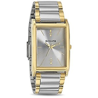 Sonata Analog Silver Dial Mens Watch-77002bm01