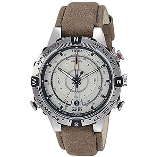 Timex Intelligent Quartz Compass Chronograph Off-White Dial Mens Watch - T2N721