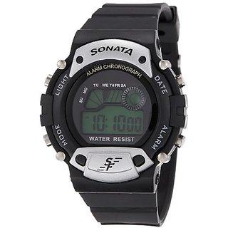 Sonata Super Fibre Digital Grey Dial Mens Watch - NG7982PP02J