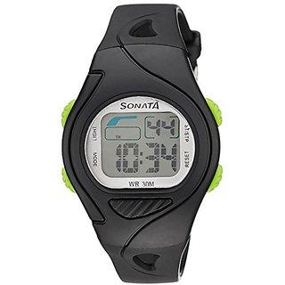 Sonata Super Fibre Digital Grey Dial Mens Watch - 87011PP01