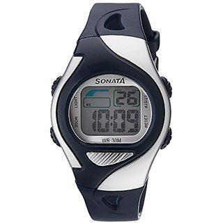 Sonata Super Fibre Digital Grey Dial Mens Watch - 87011PP03