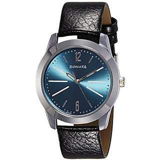 Sonata Analog Blue Dial Mens Watch (7924SL07)