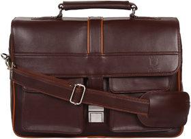Zeppar Men's laptop messenger bag with Brown color