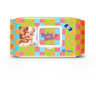 OM Skincare  Baby Wipes With Aloe Vera - 80 PCS