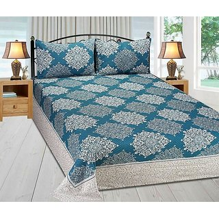 The Intellect Bazaar Premium Quality Reversible Cotton Double Bed Covers in Multi colors ( 90*100 Inches )