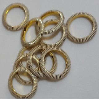 Metal Round Base for Ear Ring/Necklace Making - 50 Pc