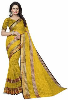Women's Cotton Silk Saree With Blouse