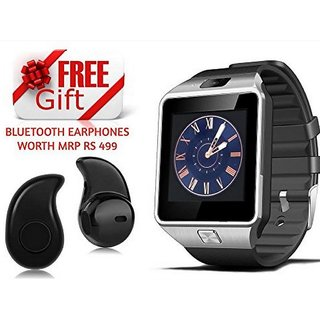 COMBO  DZ09 SMART WATCH Assorted Colour For All Smart Phones With Wireless 4.0 Earphone S530 (Assorted color)