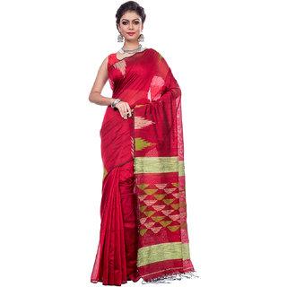 MOU BUTIK Handloom Premium Cotton Silk Jamdani Sarees